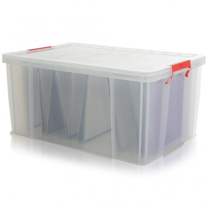 Pack of 2 - 70 Litre Extra Large Allstore Filing Plastic Boxes