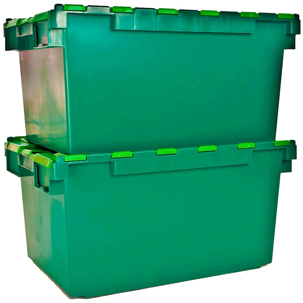 Buy large heavy duty attached lid container 80lt heavy duty box