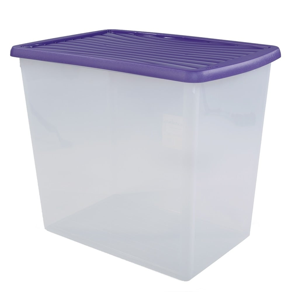 Pack Of 2   90 Litre Large Wham Storage Boxes And Lids