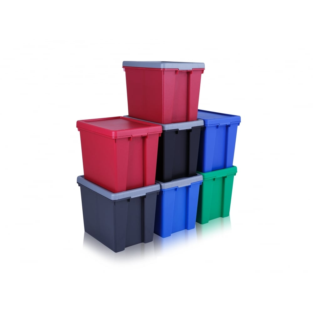 Pack Of 2   92 Litre Wham Bam Large Strong Plastic Storage Boxes With Lids