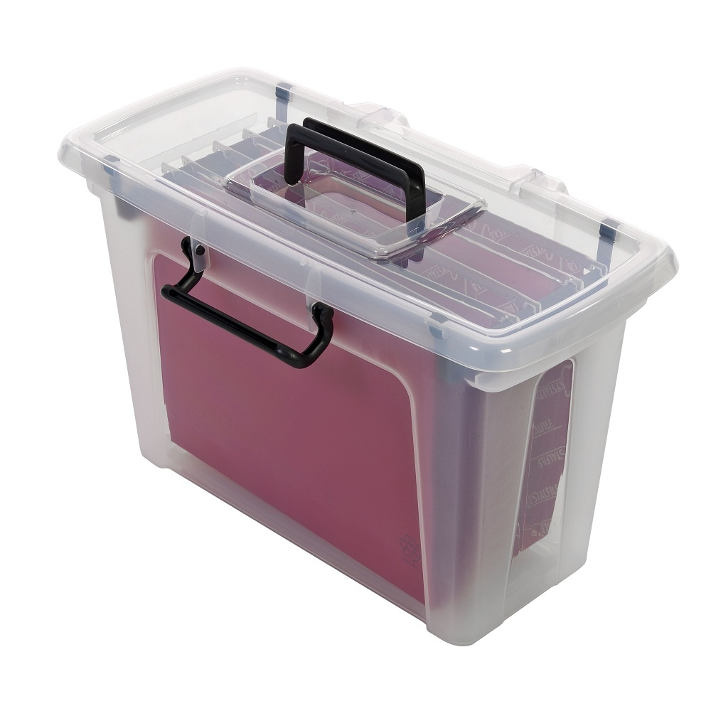 Pack of 3 - 21 Litre Smart Storemaster Plastic File Boxes  sc 1 st  Plastic Box Shop & Buy 21 Litre Smart Storemaster Plastic File Box with Lid | Plastic ...