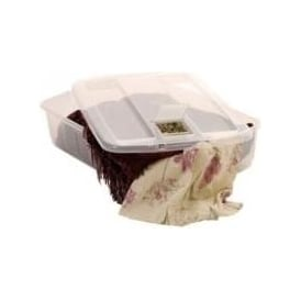 Pack of 3 - 32 Litre Underbed Pot Pourri Plastic Storage Box and Lid