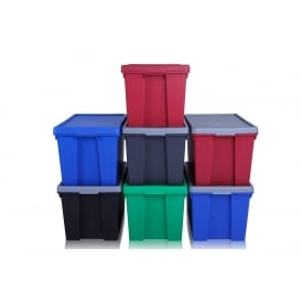 Pack of 3 - 62 Litre Strong Wham Bam Strong Boxes with Lids