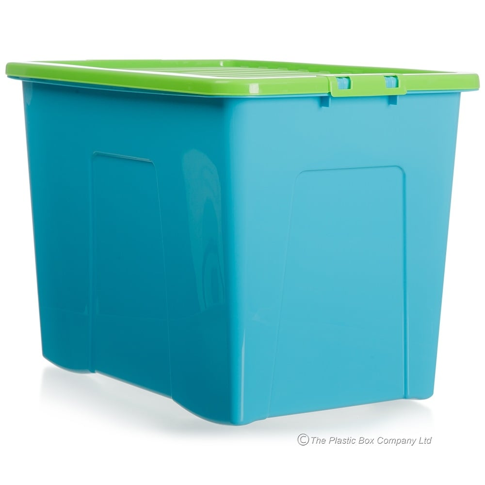 Buy XL Storage Boxes in Pink and Blue Plastic Box Shop Storage