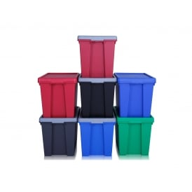 Pack of 4 - 24 Litre Wham Bam Strong Plastic Storage Boxes with Lids