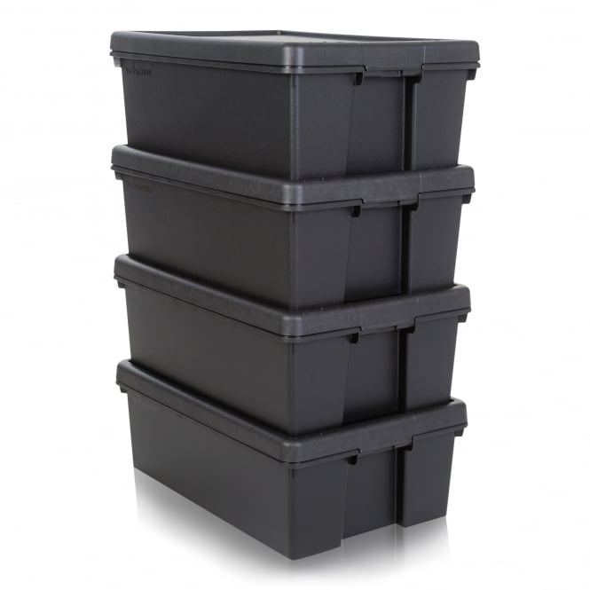 Pack of 4 - 36 Litre Wham Bam Heavy Duty Recycled Box with Lid