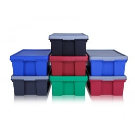 Pack of 4 - 36 Litre Wham Bam Strong Storage Boxes with Lids