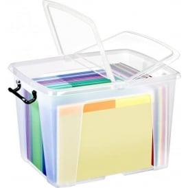 Pack of 4 - 40 Litre Smart Storemaster Plastic Storage Boxes with Lids