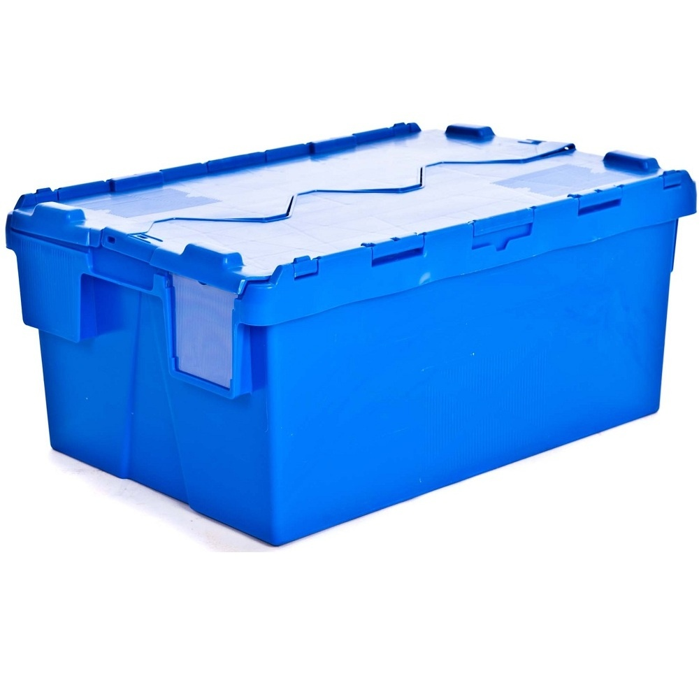 Buy Large Heavy Duty Attached Lid Container 48lt Tote Box