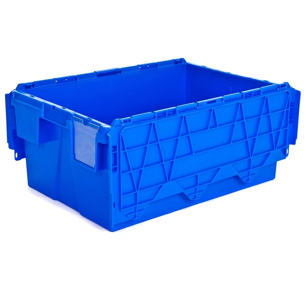 buy large heavy duty attached lid container/ 48lt tote box