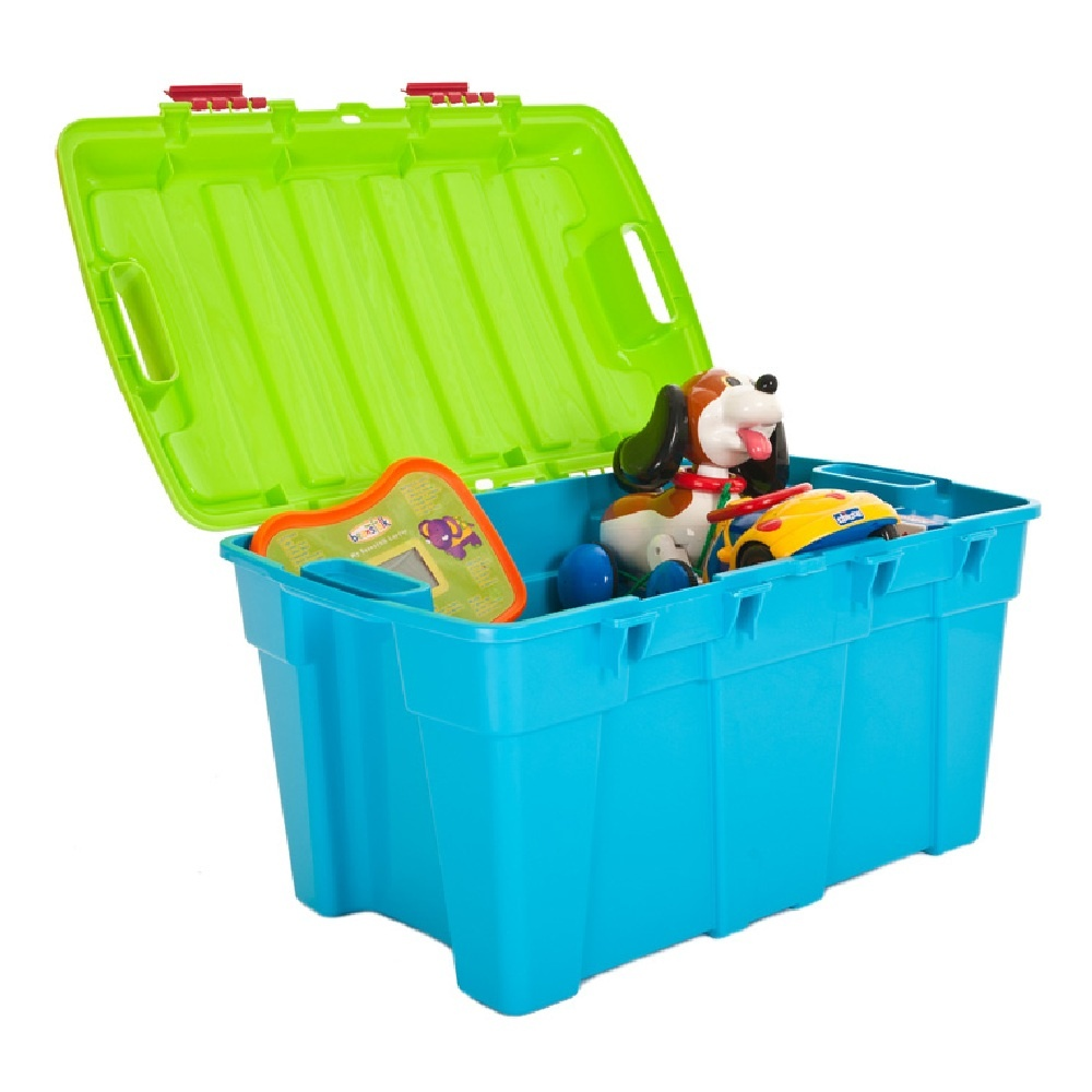 Pack Of 4   48 Litre Plastic Trunk Storage Boxes