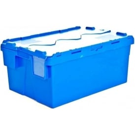 Pack of 4 - 54 Litre Heavy Duty ALC Plastic Storage Box With Attached Lid
