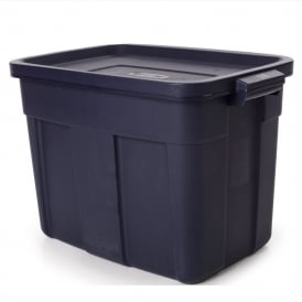 Pack of 4 - 57 Litre Rough Tote Strong Virtually Unbreakable Durable Plastic Box with Lid