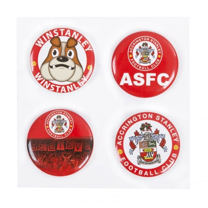 Pack of 4 Button Badges