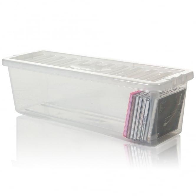 Buy Shallow Shelf 52 Cd Plastic Storage Box With Lid