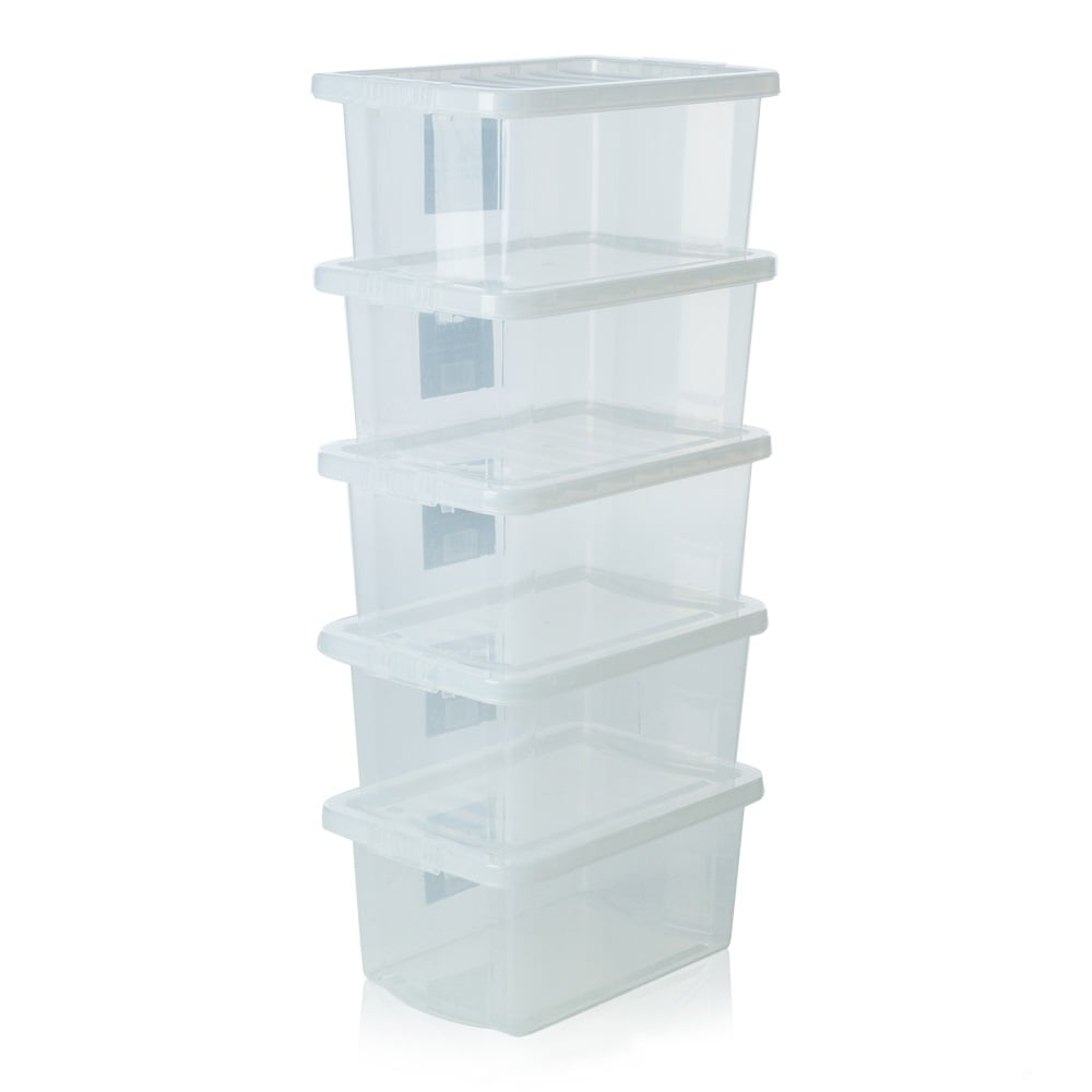 buy wham crystal brand 10l transparent plastic storage box with lid