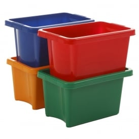 Pack of 5 - 10 Litre Stack and Store Boxes