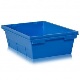 Pack Of 5   17 Litre Heavy Duty Plastic Tote Boxes   NO LID