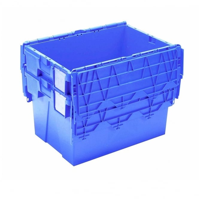 Buy 18lt Heavy Duty Plastic Storage Box With Attached Lid