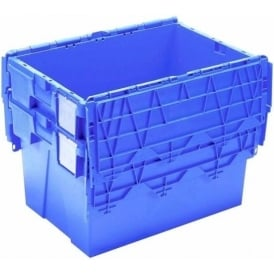 Pack of 5 - 18 Litre Heavy Duty ALC Plastic Storage Boxes With Attached Lids