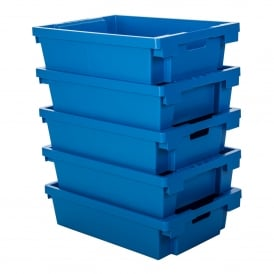 Pack of 5 - 27 Litre Heavy Duty Plastic Tote Boxes