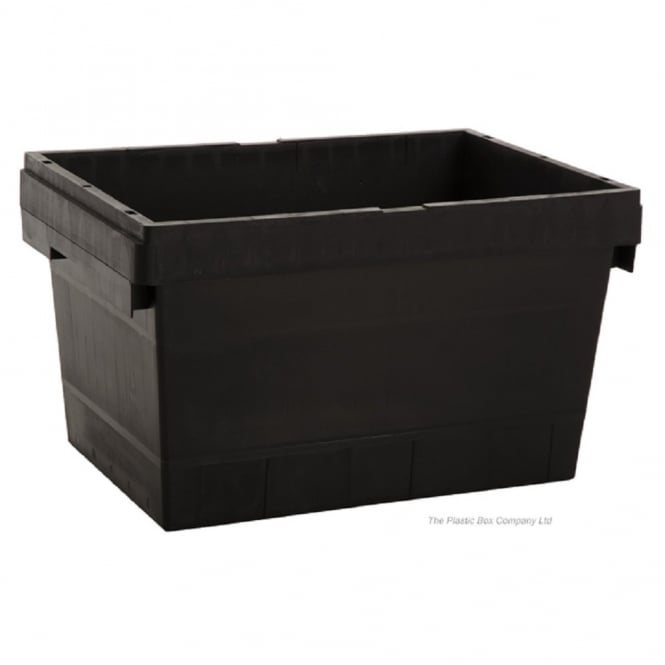 Pack of 5 - 30 Litre Heavy Duty Flat Top Tote Plastic Boxes