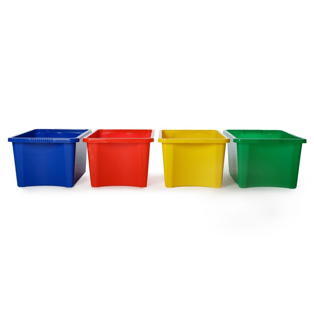 buy pack of 5 30 litre stacking plastic storage boxes