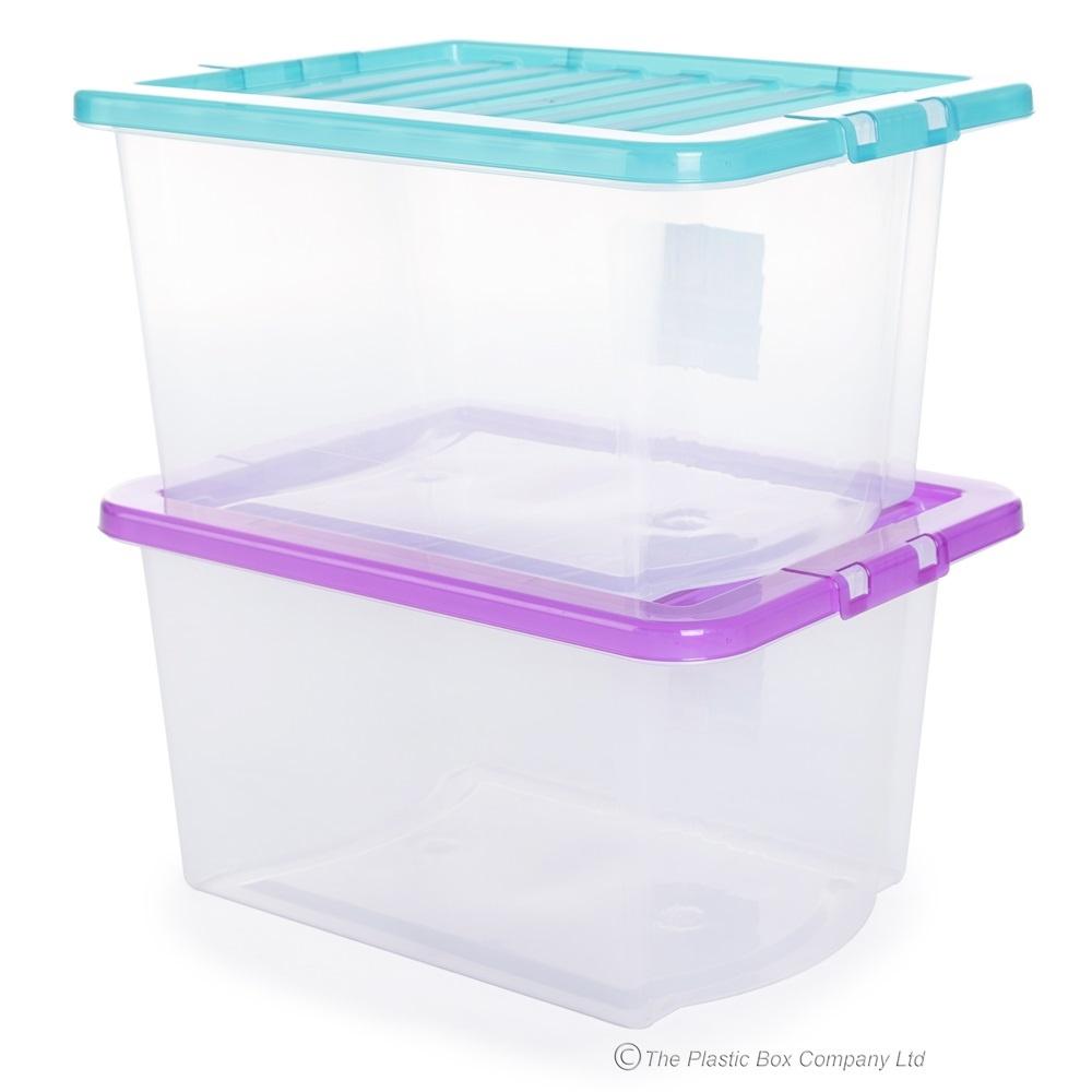 Pack of 5 - 30 Litre Uni Plastic Storage Boxes with Lids  sc 1 st  Plastic Box Shop & Buy 30lt Uni Plastic Storage Box and Lid | cheap storage boxes