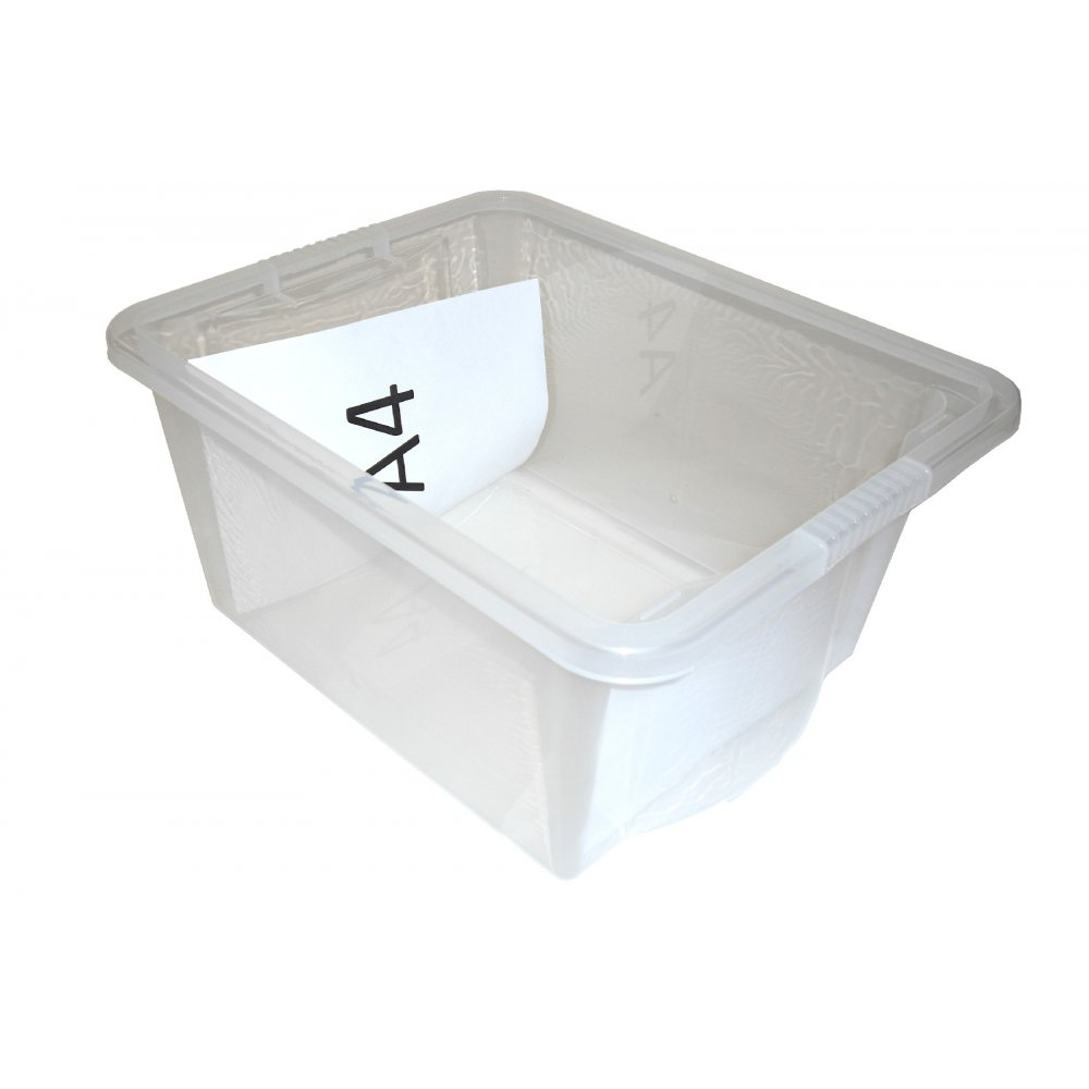 Pack of 5 - 35 Litre Crystal Plastic Storage Boxes with Lids  sc 1 st  Plastic Box Shop & Buy 35L Crystal Plastic Storage Box with Lid | Plastic Document ... Aboutintivar.Com