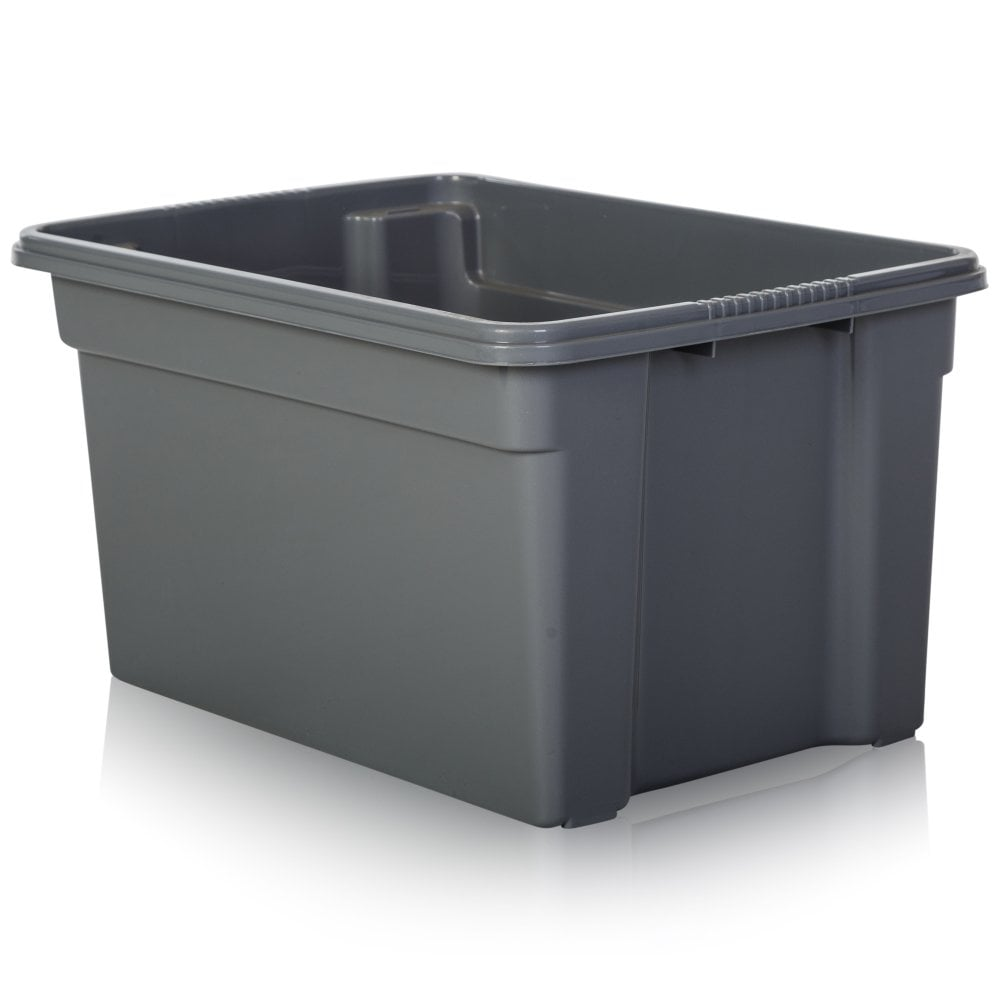 3 x 50L 50 Litre Large Plastic Storage Clear Box Strong Stackable Container