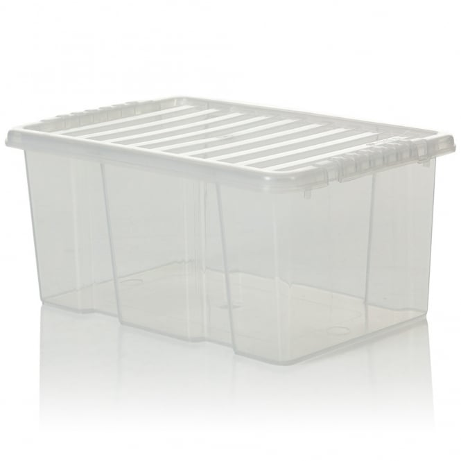 Pack of 5 - 6 Litre Plastic Storage Boxes with Lids