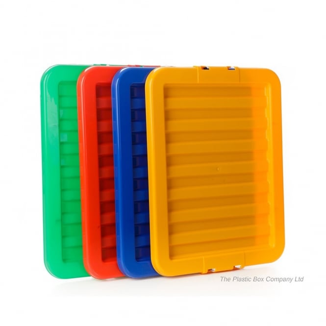 Pack of 5 - LIDS ONLY for the 35L Stack and Store Boxes - Red, Blue, Green, Yellow and Clear