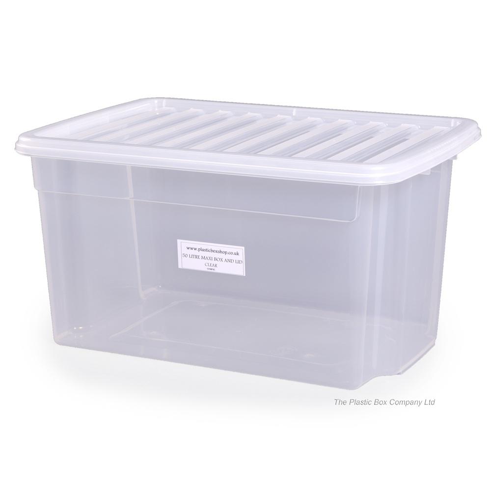 Pallet Deal x 100 - 50L Uni Plastic Storage Boxes with Lids  sc 1 st  Plastic Box Shop & Buy 50lt Uni Wham Storage Boxes with Lids | Plastic Box Shop