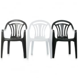 Pallet Deal - x 100 Low Back Stacking Plastic Garden Chairs