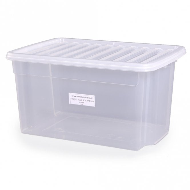 Buy 50lt Uni Plastic Storage Boxes With Lids Plastic Box