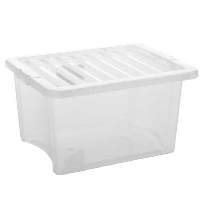 Pallet Deal x 240 - 35 Litre Crystal Plastic Storage Boxes with Lids