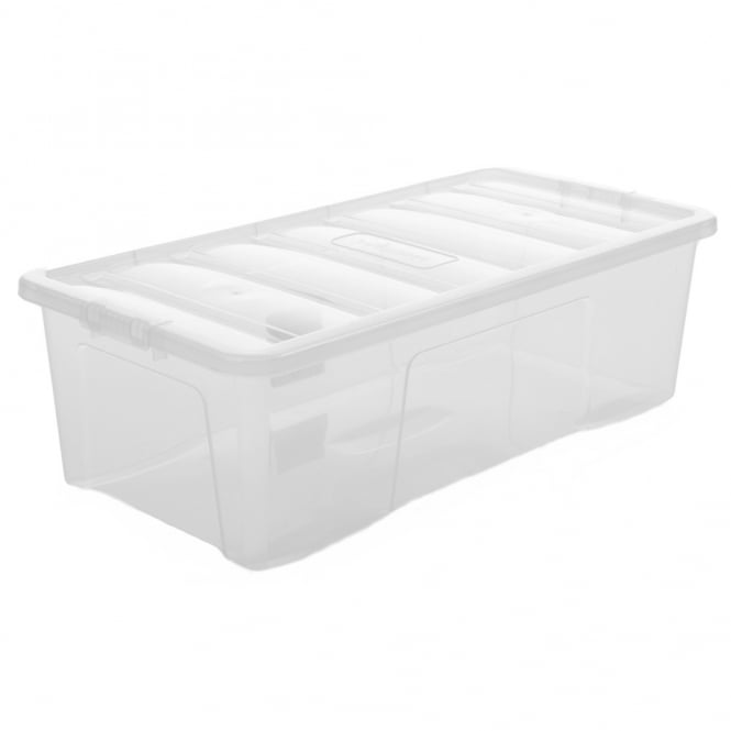Pallet Deal x 90 - 62 Litre Crystal Plastic Storage Boxes with Lids