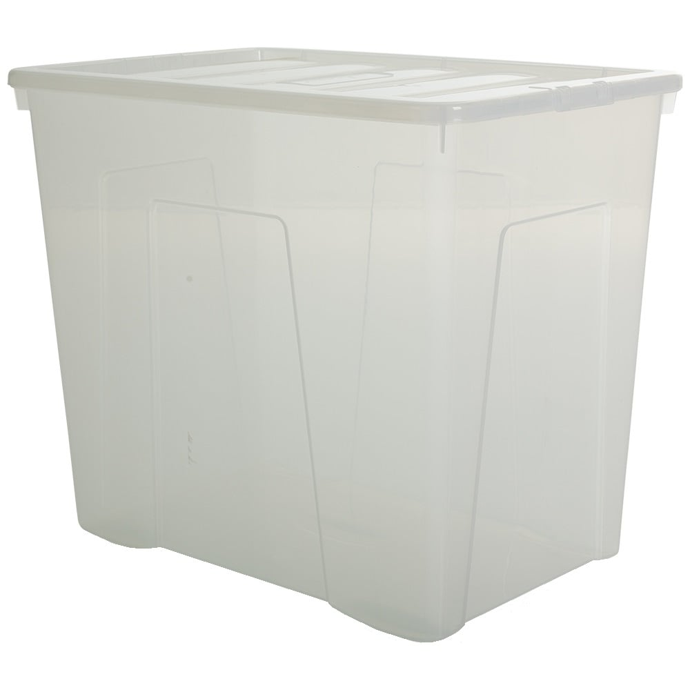 Superbe Wham Storage Pallet Of 8   160 Litre Super Large Crystal Plastic Storage  Boxes With Lids