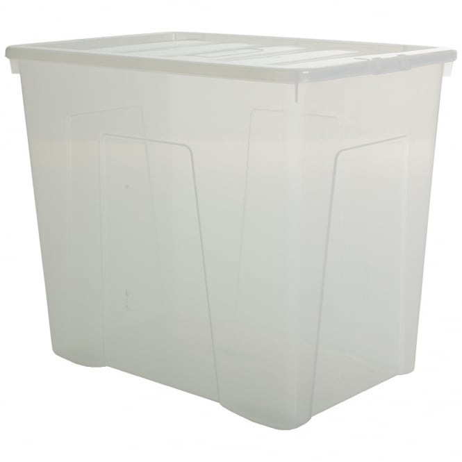 Pallet of 8 - 160 Litre Super Large Crystal Plastic Storage Boxes with Lids