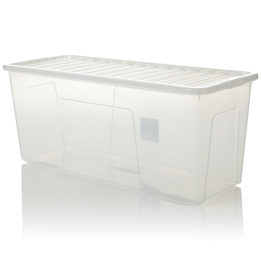 Pallet X 10   133 Litre Extra Large Plastic Storage Boxes With Lids