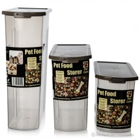 Pet Food/ Dry Food Plastic Containers - Clear/Mocha