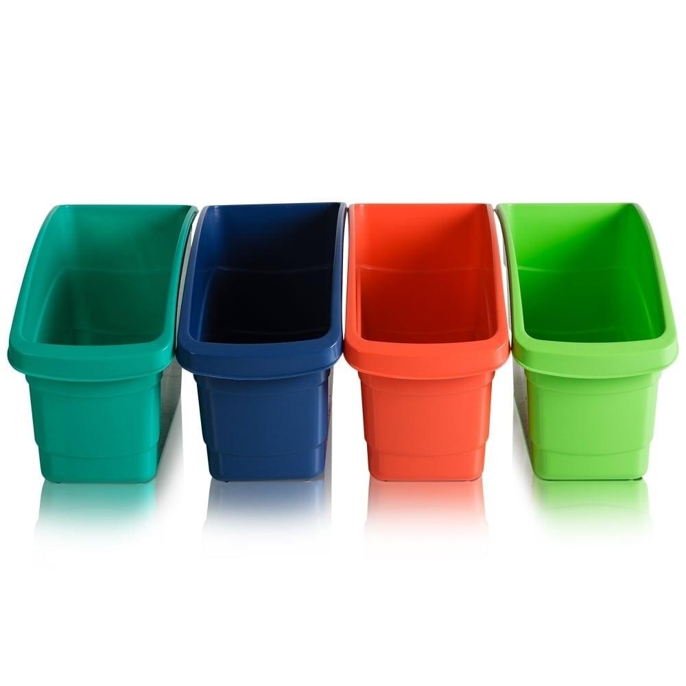 Buy Plastic File Organiser In Orange Lime Green