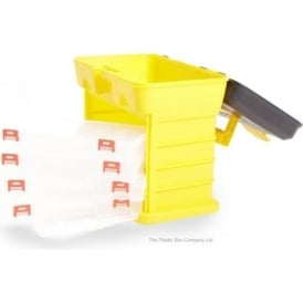 Plastic Tool Organiser Box with 4 Removable Compartmental Organisation Trays