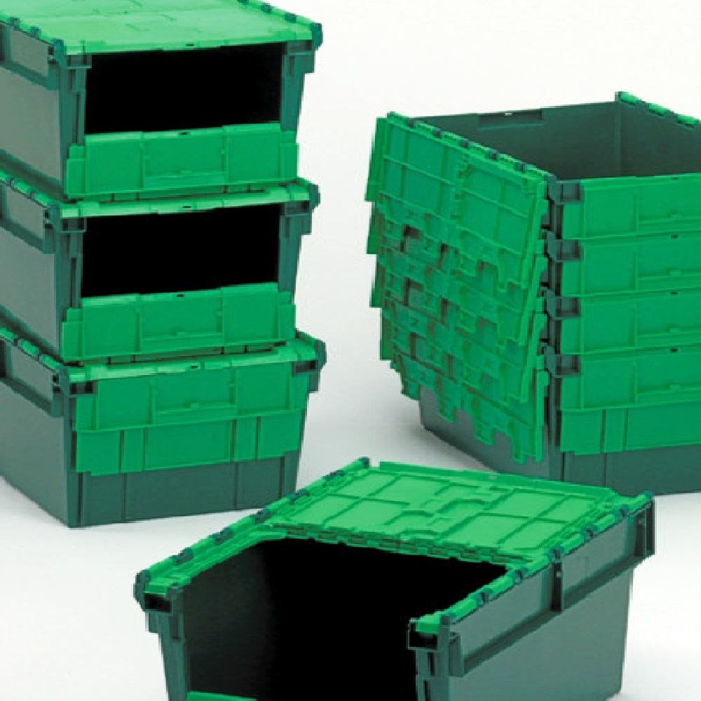 Amazing Front Opening Storage Containers Part - 2: ... Pack Of 4 - 54 Litre Heavy Duty Plastic Storage Picking Container - Front  Opening. U2039