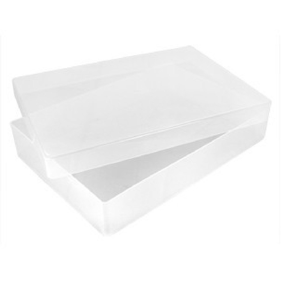 Buy a4 paper and card plastic storage boxes with lid a4 for Plastic craft boxes with lids