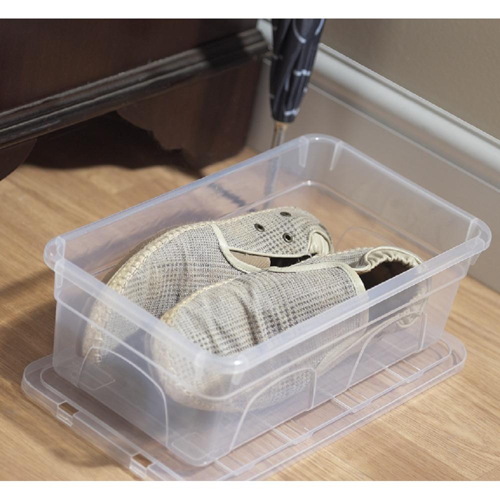 Acrylic Shoe Boxes : Buy lt cm spacemaster mini plastic shoe box with lid