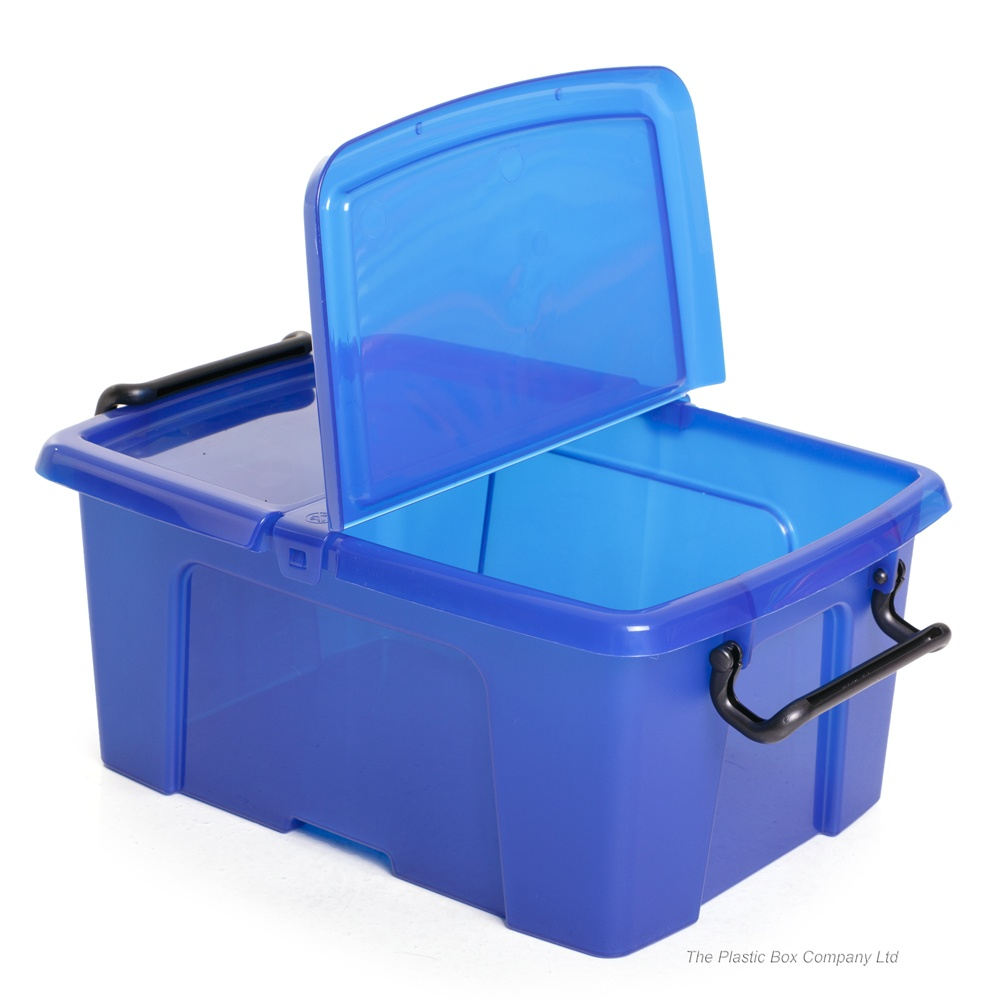 buy 12lt strata smart storage box with lid cd plastic storage box dvd storage box. Black Bedroom Furniture Sets. Home Design Ideas