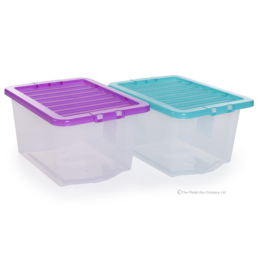 buy 30lt uni plastic storage box and lid cheap storage boxes. Black Bedroom Furniture Sets. Home Design Ideas