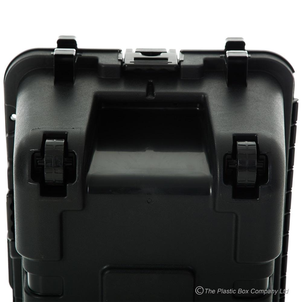 104lt extra large lockable storage box with wheels foot locker box