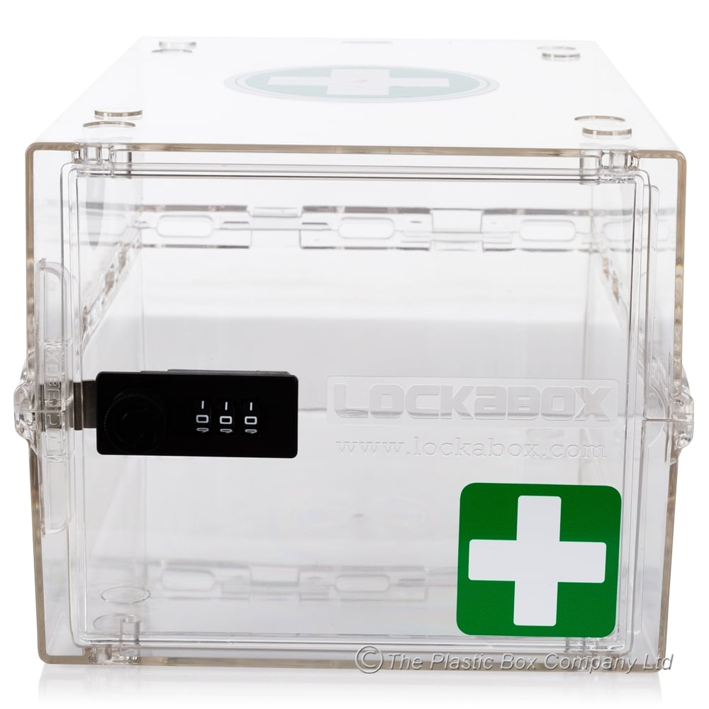 Buy Clear Plastic Box With Combination Lock For First Aid